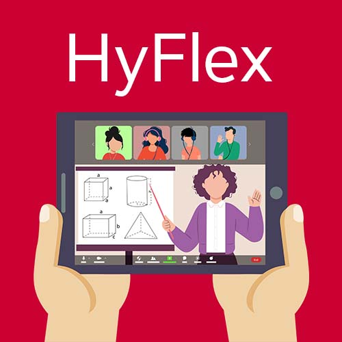 HyFlex and Hands holding tablet