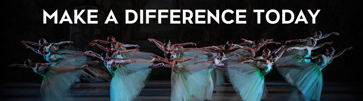 Ballerinas on stage: Make a difference today.