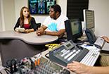 A Student in a recording studio