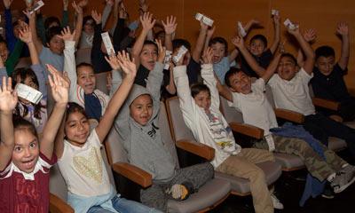 Children audience at the Soraya.
