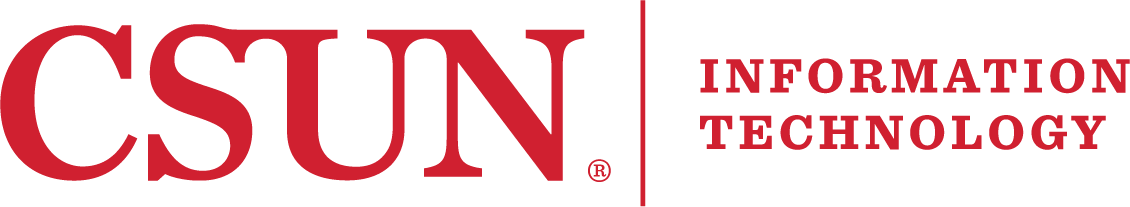csun information technology logo in red
