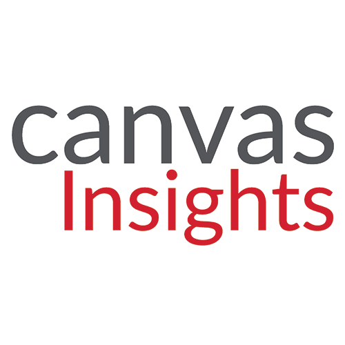 Canvas in dark gray and Insights in Red
